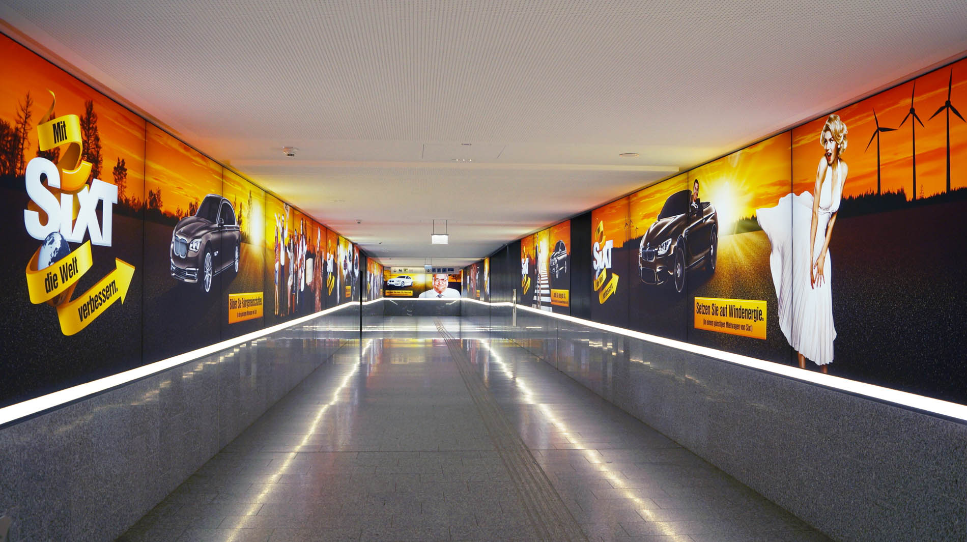 SIXT Airport Marketing, corridor view